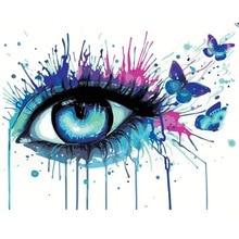 Peinture à lhuile avec yeux papillon bricolage   Animal sans cadre par numéros, peinture murale, toile dart, décoration de mariage, livraison directe