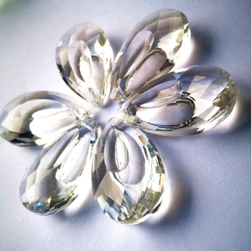 Ücretsiz yüzükler 12 adet 50mm kristal Marquis Clear avize yönlü aydınlatma kolye Diy pencere Suncatchers cam boncuk perde