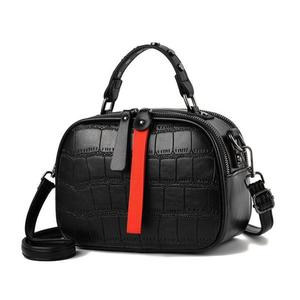 2020 Newleisure Pu Leather Messenger Women Bag Ladies Shoulder Bags Contrast Color Zipper Lattice Crossbody Bags Rivet Handbags