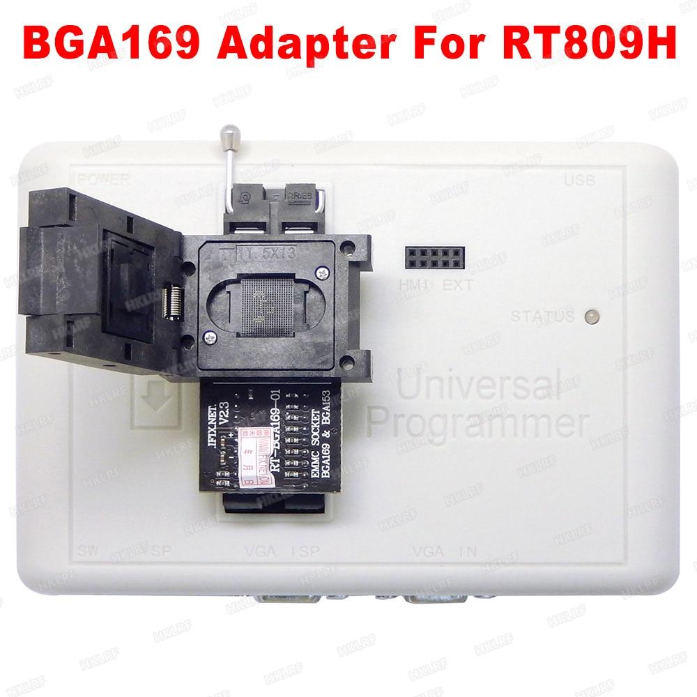Envío Gratis RT-BGA169-01 BGA169 / BGA153 EMMC adaptador V2.3 con 3 uds BGA caja para programador RT809H