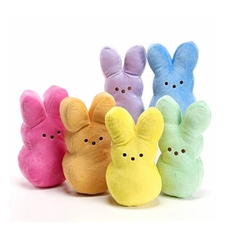 colorful cute caterpillar big insect plush toys doll with pp cotton stuffed animal pillow for children adult gifts 15cm Easter Peeps Rabbit Plush Toys Soft Stuffed Animal Peeps Pillow Sexy Cute Rabbit Doll for Kids Children Gifts