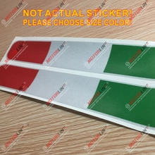 2x Italy Italian Flag Decal Sticker Car Vinyl Reflective Glossy stripes b pick size