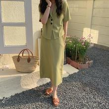 2pcs summer suit two-piece tops +skirt sets for women 9116#