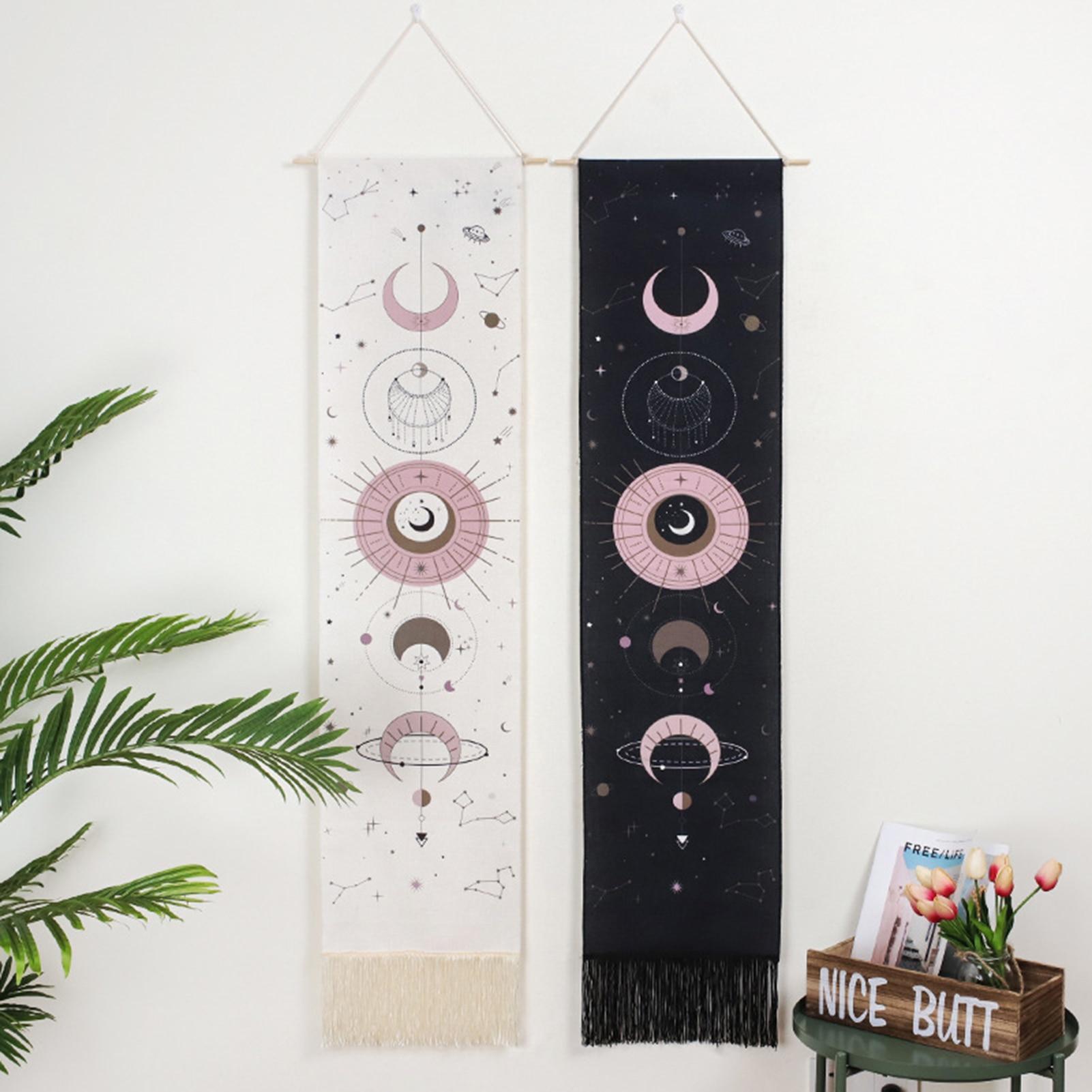 46*12inchMoon фазы гобелен настенный гобелен Boho художественные гобелены Настенный декор для Спальня Гостиная комнаты в общежитии