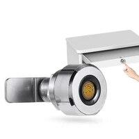 Serrure de tiroir numerique a 20 empreintes digitales  Rechargeable  sans cle  en alliage de Zinc  intelligente  pour maison  bureau  armoire de gymnastique