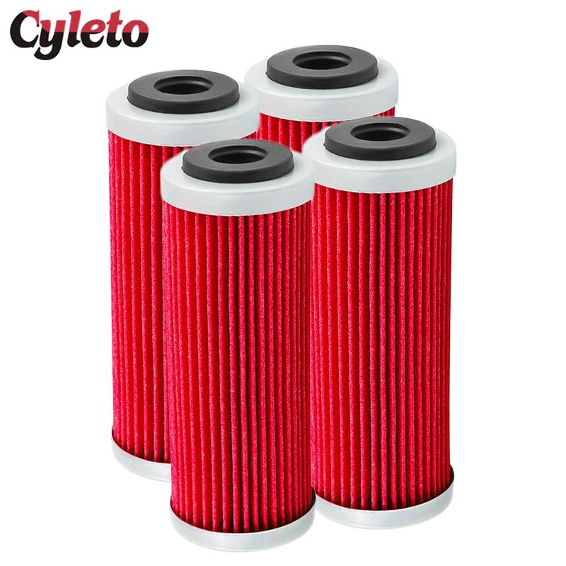 1/2/4 Pcs Cyleto Moto Filtre À Huile Pour Husqvarna FC250 FC350 FC 450 FE250 FE350 FE450 FE501 FX350 FX450 FS450