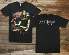 Avril Lavigne Under My Skin Grunge Rock Tour 2004 Men'S Tshirt Cotton T-Shirt Short Sleeve O-Neck Cotton T Shirt Top Tee