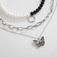 ms new punk hip hop fashion imitation pearl necklace temperament luxury collarbone chain pendant girl party jewelry gifts