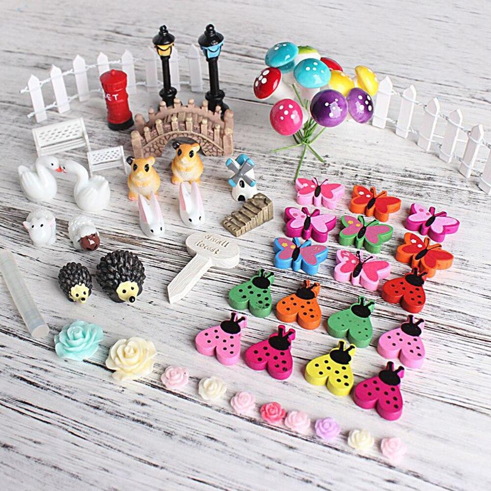 Alta calidad 58x miniatura Hada jardín adorno olla DIY artesanía accesorios Dollhouse decoración Drop Shipping
