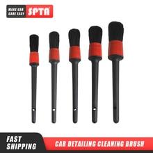 SPTA автомобильные детализирующие щетки для очистки натуральных кабанов, щетки для волос, авто детальные инструменты, 5 шт., аксессуары для приборной панели колес, аксессуары для стайлинга автомобилей
