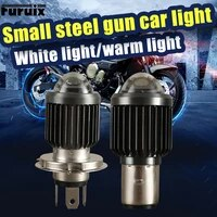 led motorcycle headlights double color with double lens far and near light distinct led spotlight small steel cannon