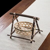 handmade bamboo weaving storage basket nuts snack food picnic bread container kitchen storage basket countertop