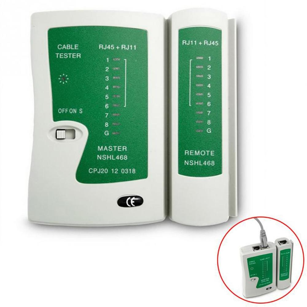 Tester-Cable de red profesional, RJ45, RJ11, RJ12, CAT5, UTP, Detector de Tester de Cable LAN, herramientas de prueba remota, redes de alta calidad