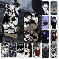 fhnblj toji fushiguro jujutsu kaisen anime phone case for iphone 11 12 pro xs max 8 7 6 6s plus x 5s se 2020 xr cover