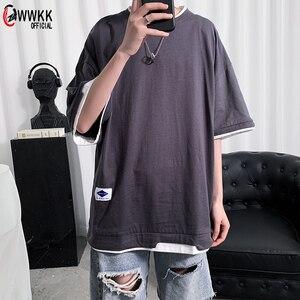 WWKK Men T Shirt Hip Hop 2021 Streetwear Tshirt Print Harajuku Summer Short Sleeve T-Shirt Cotton Tops Tees Oversize