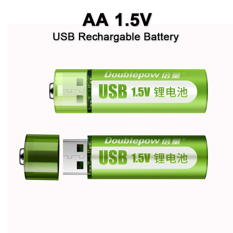 AliExpress - 1.5V AA rechargeable battery 1800mWh USB AA rechargeable li-ion battery for remote control mouse small fan Electric toy battery