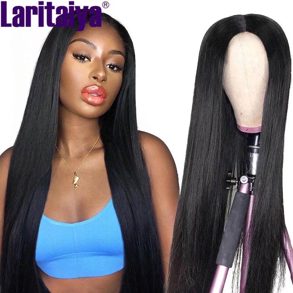 Laritaiya 4X4/13x4 Lace Front Wig Peruvian Straight Hair Lace Front Wigs 100% Human Hair Lace Closure Wig Straight Hair Wigs