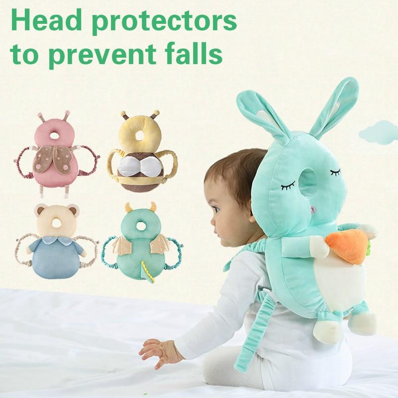 Almohada para bebé, productos de seguridad, cabeza anticaída para niños pequeños, VENTILACIÓN DE VERANO 2020 y protección contra colisiones, dibujos animados protectores