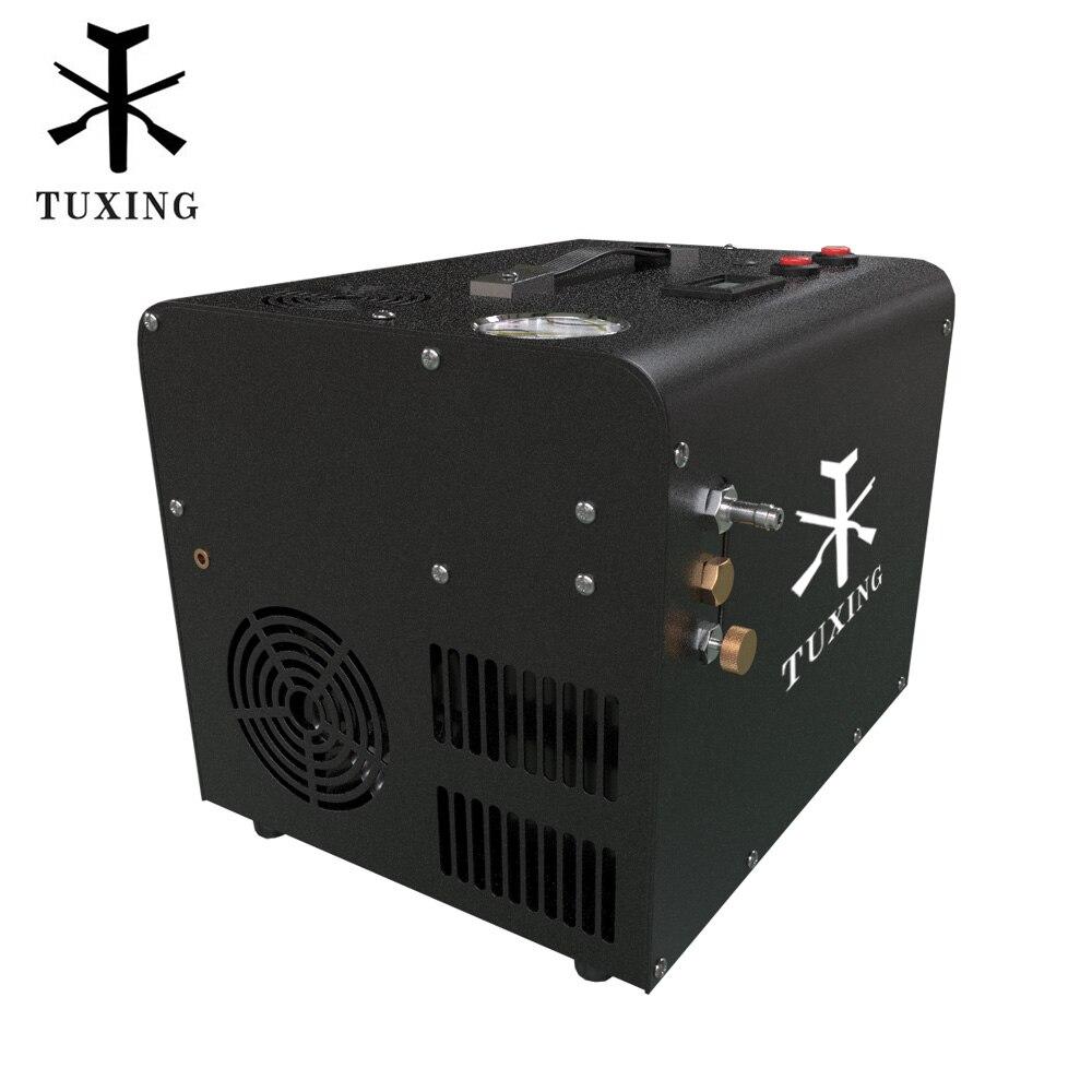 TUXING TXET062 Pcp compresseur dair pompe haute pression 12V pompe Portable pour PCP fusil à Air gonfleur pneumatique 4500Psi 300Bar 30Mpa