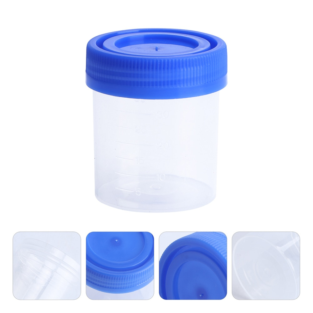 10Pcs Urine Cups 120ml Fecal Cups Simple Urine Liquid Test Cups