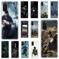luxury silicone phone case for samsung galaxy s20 fe s10 s9 plus s21 ultra s8 soft matte cover funda days gone anti