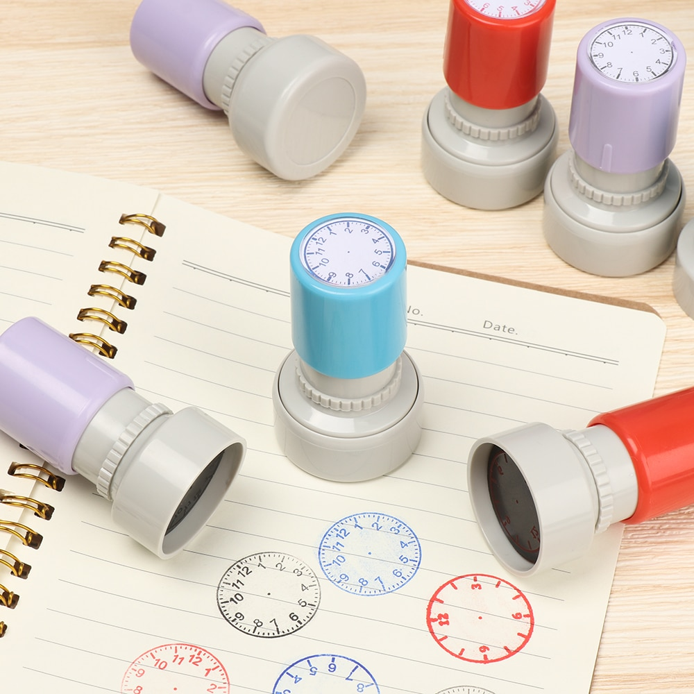 1 Pcs Clock Dial Stamp Teaching Tools for Kids Learning on Watch Student Math Teaching Tools Seal fo