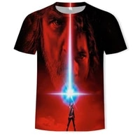summer mens and childrens clothing loose and comfortable short sleeved 3dt shirt casual cool movie theme pattern