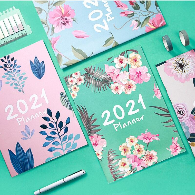 Agenda 2020 2021 A4, cuaderno y diario, 365 días, planificador semanal, organizador...