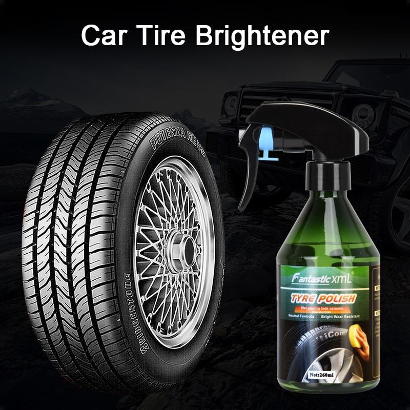 Полировщик для автомобильных шин 260 мл, средство для отбеливания аксессуары для воска автомобильных шин, полировальный спрей, восковое покр...