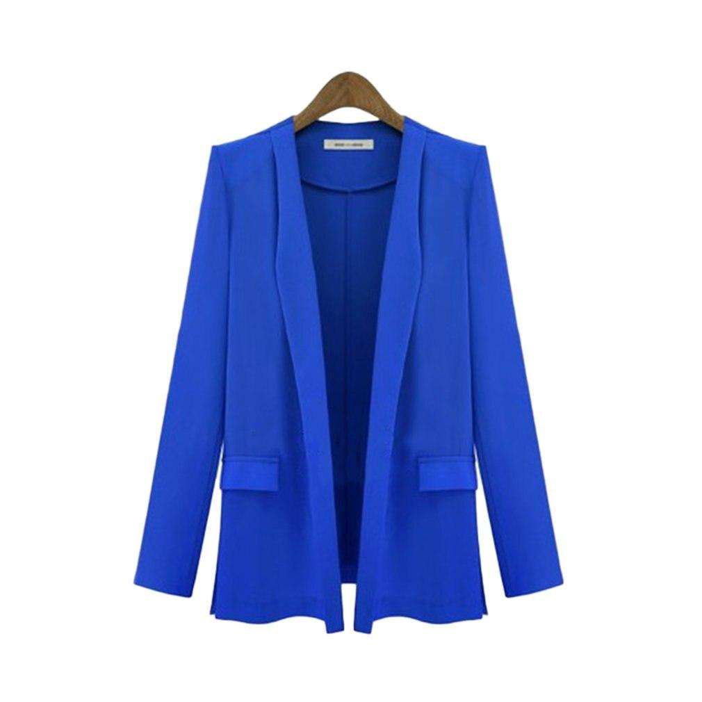2019 Autumn Women Blazer Bomber Jackets Slim Elegant Coats Clothes Office Lady Tops Blouser Loose Wrap Female Suit with Pocket