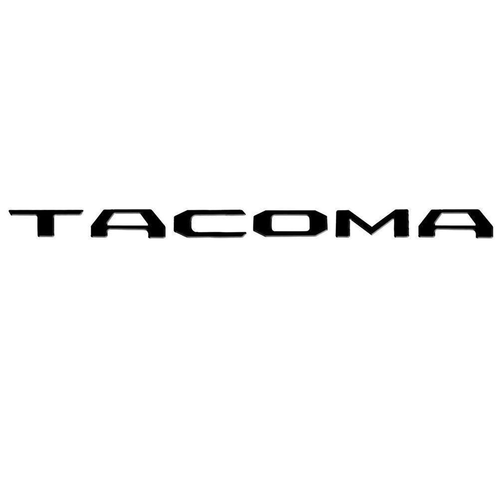 Bagageira inserir letras para toyota tacoma 2014 2015 2016 2017 2018 2019 especial 3d zinco preto fosco
