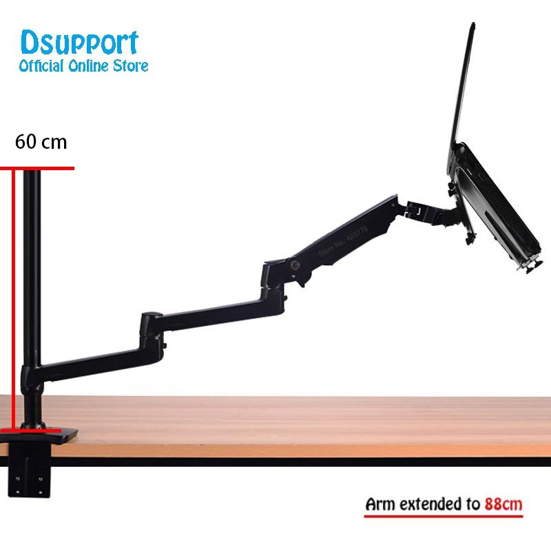 Aluminum Alloy Desktop Mount Ultra long Arm Dual-use Laptop Desk / Tablet Monitor Holder Mount Arm Full Motion Notebook Bracket