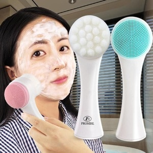 Cleansing Brush Wash Artifact 3D Double-sided Wash Brush Soft Hair Silicone Wash Instrument Home Manual Deep Clean Pores New