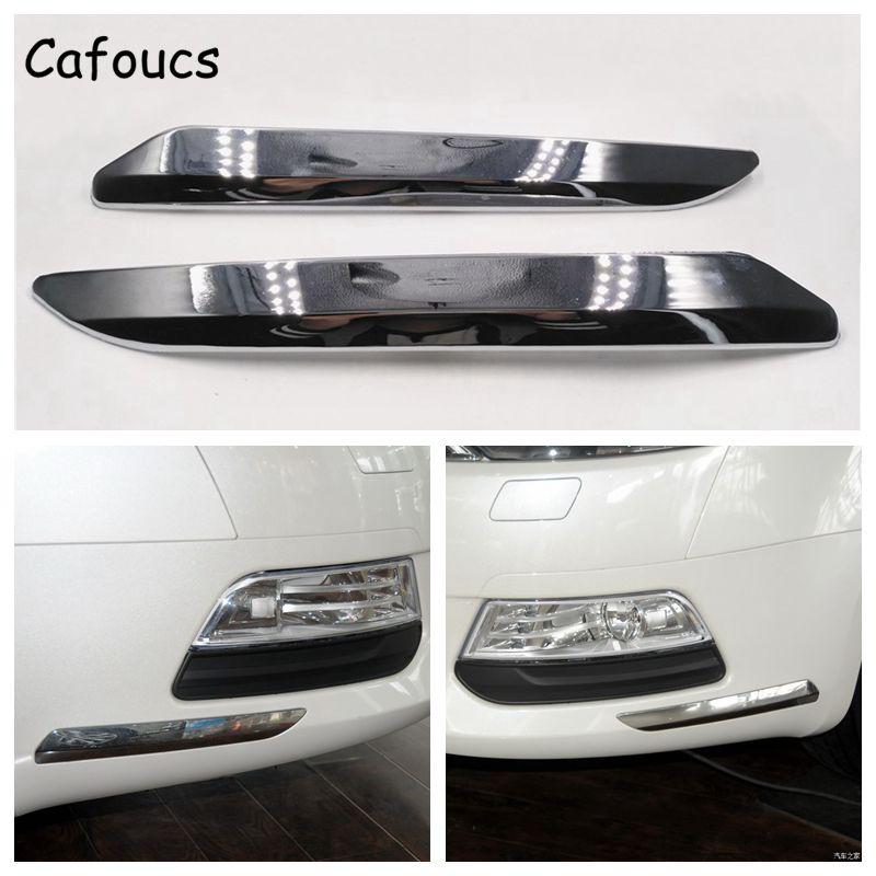 Cafoucs für Citroen C5 2008-2015 Auto Vorderen Stoßfänger Chrom Silber Trim Streifen Dekoration Abdeckung 9682198677