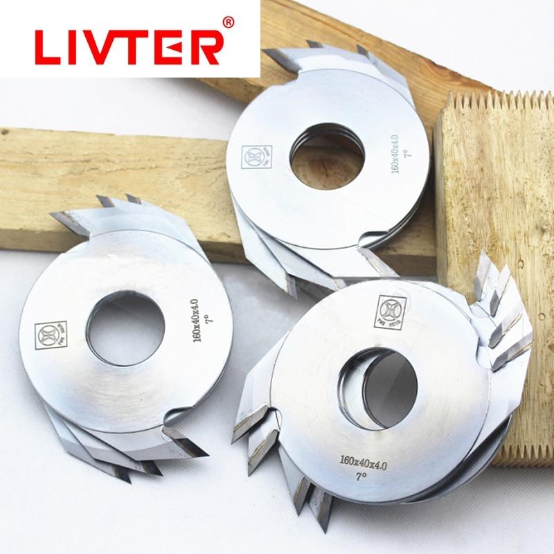 Livter 5pcs Woodworking Carbide TCT Finger Joint Cutter Wood Splicing Blades 160mmx4.0mm Cutting Deepth 12mm For Finger Shaper enlarge