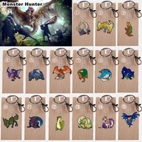 15 styles monster hunter acrylic keychain tigrex games toys key chain anime gifts for kids collectible model figures