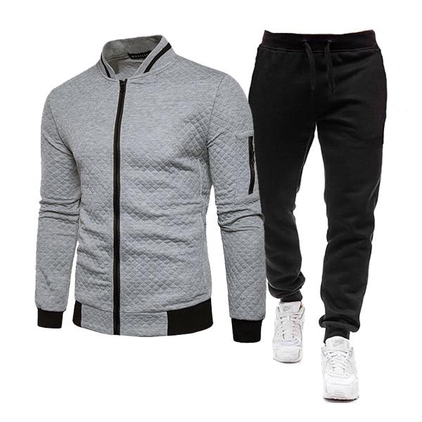 Men's Oversized Hoodie Jacket Men Baseball Uniform Tracksuit Top+Pants 2 Pieces Set Male Sportswear Fashion Locomotive Clothing