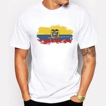 Équateur Drapeau Hommes T-shirt col Rond Fans Nostalgie Équateur Drapeau Dété Style Fitness T-shirt Hommes Vêtements Top T-Shirts