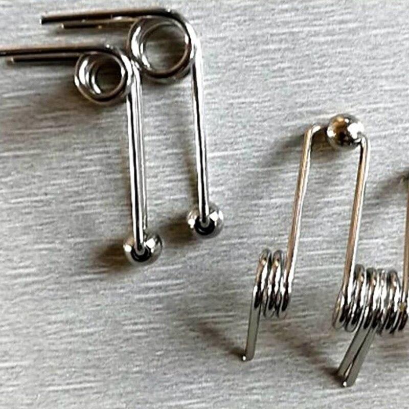 Muelle de torsión de acero inoxidable personalizado profesional de 4 piezas/pieza, especialmente adecuado para varilla de permanente 1,2x24mm/1,2x26mm/1,2x28mm