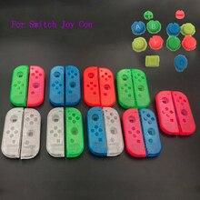 10 комплектов пластиковый чехол для корпуса Joy Con, чехол для Nintendo Switch, прозрачный чехол для контроллера на заказ, цветные кнопки