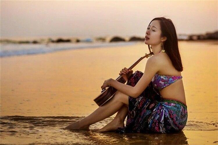 SNAILUKES 23 Inch Ukulele Concert Hawaii Guitar Ebony Wood With Bag/Tuner/Capo/Strap enlarge