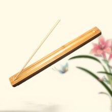 Ware Platte Bambus Stick Halter Duftenden Weihrauch Brenner Dekorative Geschenk Tragbare Traditionellen Büro Handwerk Hause Tragbare