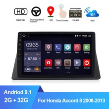 "10.1 ""2Din araba radyo multimedya oynatıcı Honda Accord 8 için 2008-2013 Android 9.1 2G + 32G araba GPS navigasyon ses Stereo Video Pla"