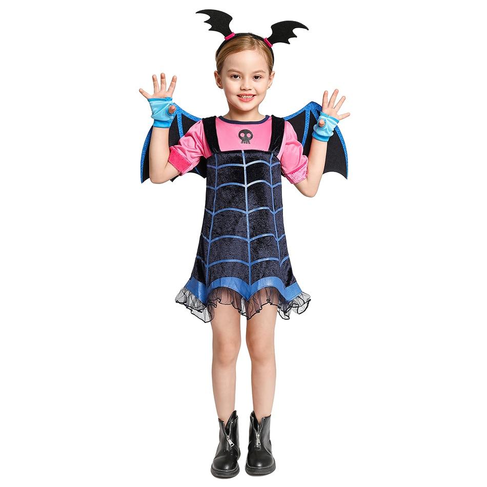 Vampirina-déguisement dété pour petites filles   Tenue de déguisement dhalloween chauve-souris pour enfants, tenue de fête Vampire Cosplay, déguisement de rôle Paly