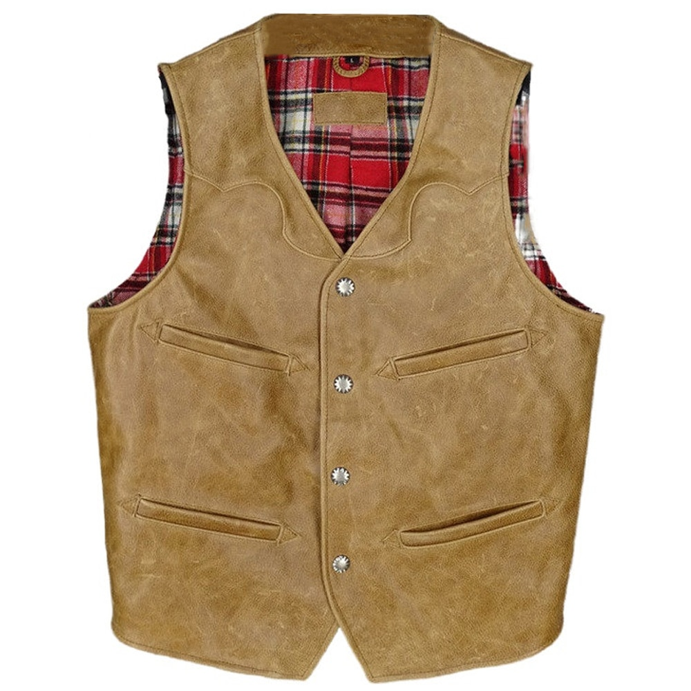 Summer Motorcycle Mans Vest Coat Sleeveless Cowhide Waistcoat Vest Genuine Leather Weskit For Men European Fashion Streetwear