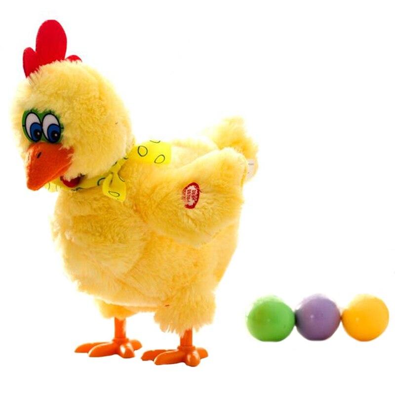 Забавные куриные курицы, 30 см, откладывают яйца цыплят, сумасшедшая модель пения и танцев, электрические плюшевые игрушки, рождественские п... яйца куриные милтэн со 10 шт