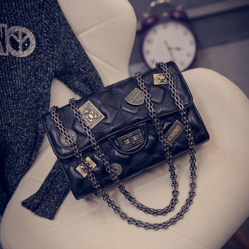 Vintage Pu Leather Chain Crossbody Bags For Women 2021 Luxury Handbags Designer Famous Brand Shoulder Bag Hand Sac A Main Female