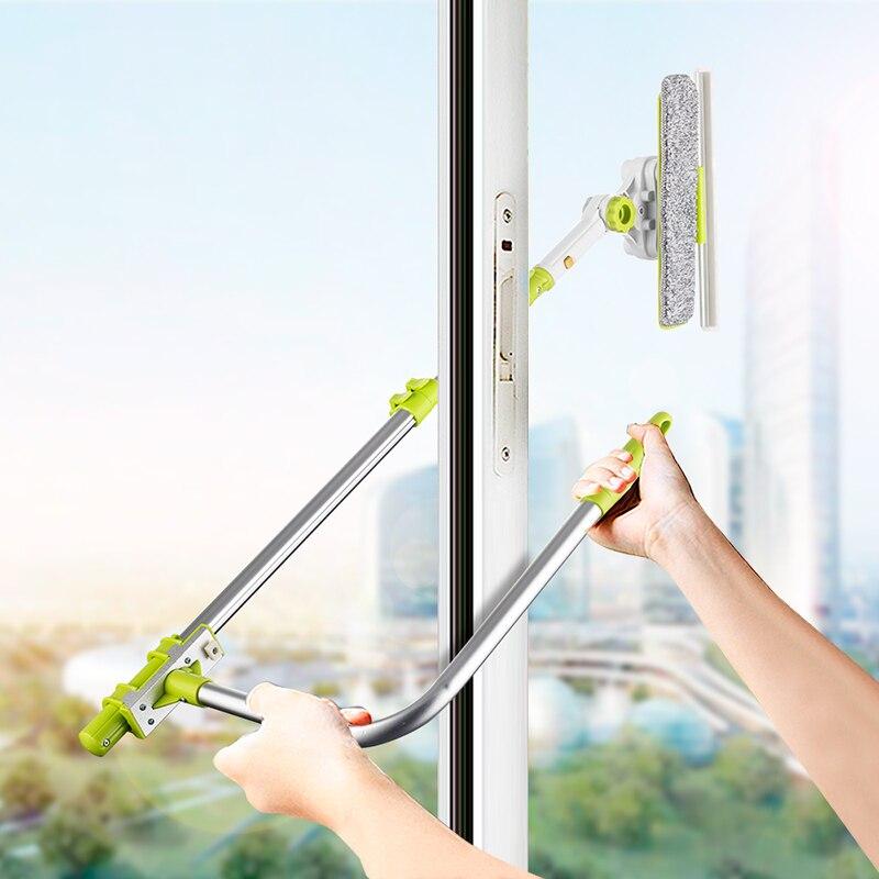 Limpador de janela high-rise para lavagem de janela rodo de rodo de microfibra extensível escova de limpeza de vidro purificador robô de limpeza