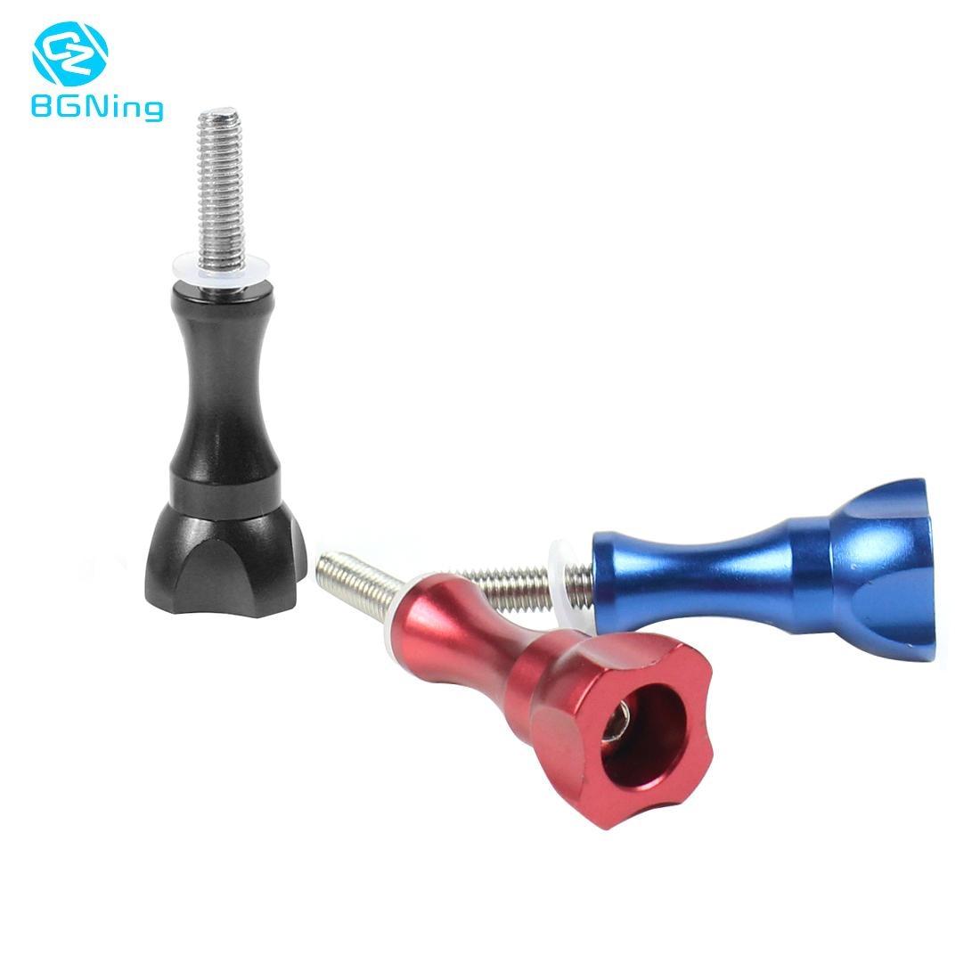 BGNing pomo de aleación de aluminio perno tuerca tornillo largo Thunb tornillo de montaje para GoPro Hero 8/7/6/5/4/3/3 +/2/1 XiaoYi Cámara de Acción SJCAM
