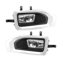for 2015 2018 gmc yukon yukon xl pair front bumper fog light lamp with halogen bulbs bezel brackets assembly
